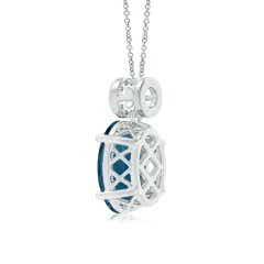 Toggle Oval London Blue Topaz Solitaire Pendant with Circular Bale