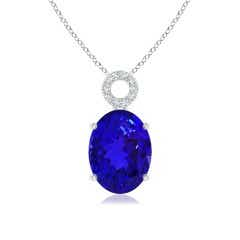 GIA Certified Tanzanite Dangle Pendant with Circular Bale