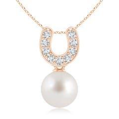 Angara South Sea Cultured Pearl Pendant with Cascading Diamonds 4XSs9oC5I