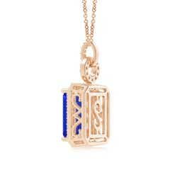 Toggle Art Deco Style GIA Certified Tanzanite Halo Pendant