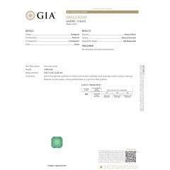 Toggle GIA Certified Emerald Solitaire Pendant with Trio Diamonds