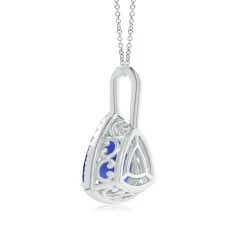 Toggle GIA Certified Trillion Tanzanite Halo Dangle Pendant