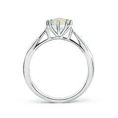 Toggle Tapered Shank Opal Solitaire Ring with Diamonds