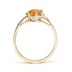 Toggle Citrine and Diamond Split Shank Ring