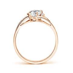 Split Shank Solitaire Oval Moissanite Ring