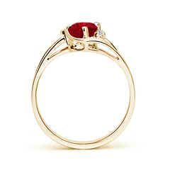 Toggle Ruby and Diamond Split Shank Ring