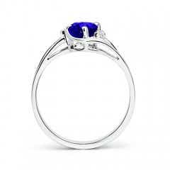 Toggle Tanzanite and Diamond Split Shank Ring