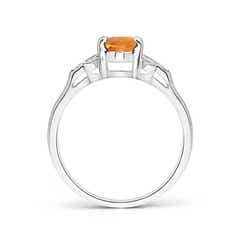 Toggle Vintage Style Oval Citrine Ring with Diamond Accents