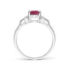 Toggle Vintage Style Oval Pink Tourmaline Ring with Diamond Accents