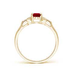 Toggle Vintage Style Oval Ruby Ring with Diamond Accents