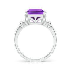 Toggle Octagonal Amethyst Split Shank Ring