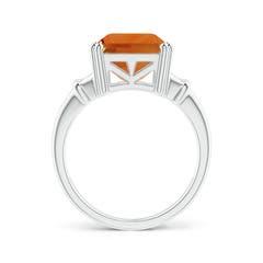 Toggle Octagonal Citrine Split Shank Ring