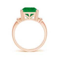 Toggle GIA Certified Octagonal Emerald Split Shank Ring