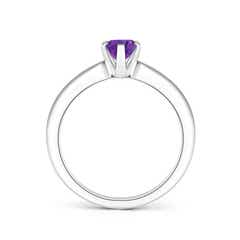 Toggle Tapered Shank Oval Solitaire Amethyst Ring