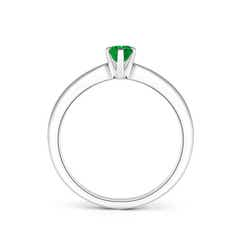 Toggle Tapered Shank Oval Solitaire Emerald Ring