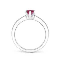 Toggle Tapered Shank Oval Solitaire Pink Tourmaline Ring