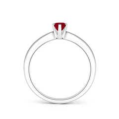 6 Prong Tapered Shank Oval Solitaire Ruby Ring