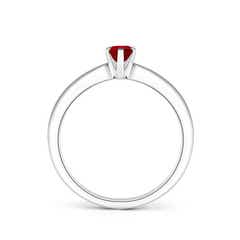 Toggle Tapered Shank Oval Solitaire Ruby Ring