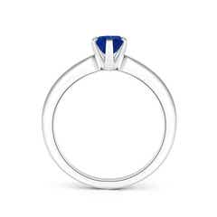 Toggle Tapered Shank Oval Solitaire Sapphire Ring