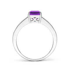 Toggle Octagonal Amethyst Cocktail Ring with Diamonds
