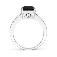 Toggle Octagonal Black Onyx Cocktail Ring with Diamonds