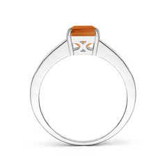 Toggle Octagonal Citrine Cocktail Ring with Diamonds