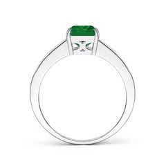 Toggle Octagonal Emerald Cocktail Ring with Diamonds