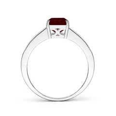 Toggle Octagonal Garnet Cocktail Ring with Diamonds