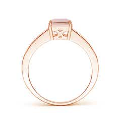 Toggle Octagonal Morganite Cocktail Ring with Diamonds