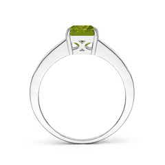 Toggle Octagonal Peridot Cocktail Ring with Diamonds