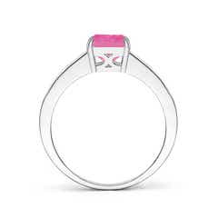 Toggle Octagonal Pink Sapphire Cocktail Ring with Diamonds
