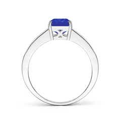 Toggle Octagonal Tanzanite Cocktail Ring with Diamonds