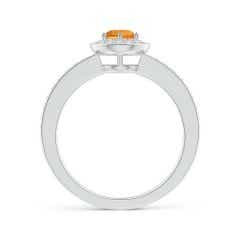 Toggle Citrine Halo Ring with Diamond Accents