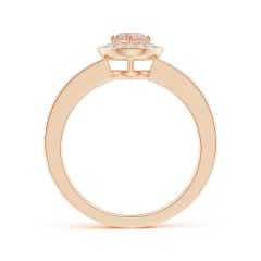 Toggle Morganite Halo Ring with Diamond Accents