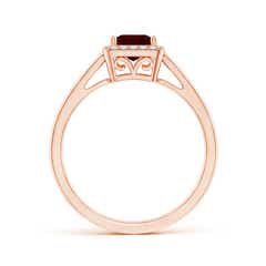 Toggle Classic Square Garnet Halo Ring