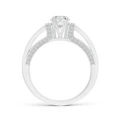 Toggle Vintage Style Diamond Split Shank Ring