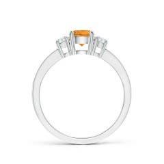 Toggle Classic Three Stone Citrine and Diamond Ring
