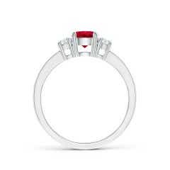 Toggle Classic Three Stone Ruby and Diamond Ring