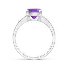 Toggle Cushion Amethyst Cocktail Ring with Diamonds