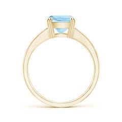 Toggle Cushion Aquamarine Cocktail Ring with Diamonds