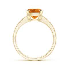 Toggle Cushion Citrine Cocktail Ring with Diamonds