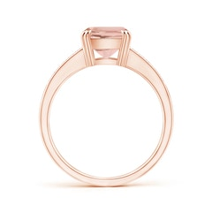 Toggle Cushion Morganite Cocktail Ring with Diamonds