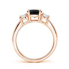 Toggle Classic Black Onyx and Diamond Three Stone Engagement Ring