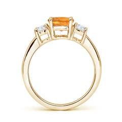 Toggle Classic Citrine and Diamond Three Stone Engagement Ring