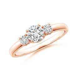 Classic Diamond Three Stone Engagement Ring