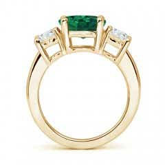 Toggle Classic GIA Certified Emerald Three Stone Ring with Diamonds