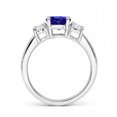Toggle Classic Tanzanite and Diamond Three Stone Engagement Ring