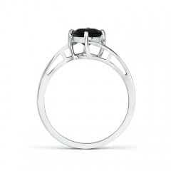 Toggle Classic Round Black Onyx Solitaire Bypass Ring