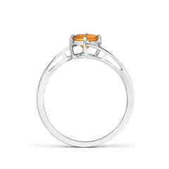 Toggle Classic Round Citrine Solitaire Bypass Ring