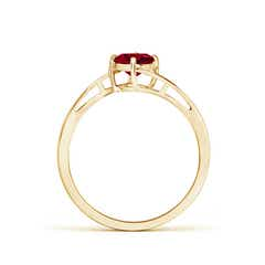 Toggle Classic Round Garnet Solitaire Bypass Ring